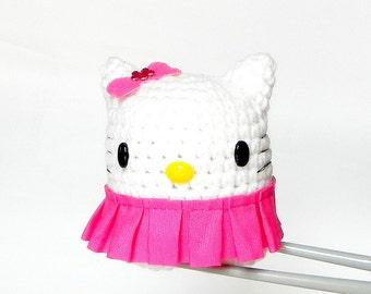 Amigurumi - Sweet ball kitty MochiQtie - crochet Amigurumi mochi mini stuff toy doll
