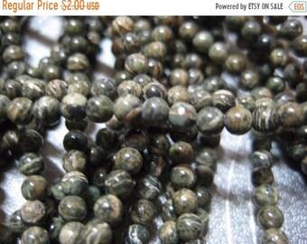 ON SALE 20% OFF Zebra Jasper Round Beads 3mm 134pcs