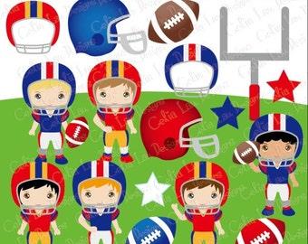 Football Clipart / Football Season clip art / sport kids clip art / American Football clipart / INSTANT DOWNLOAD (CG148)