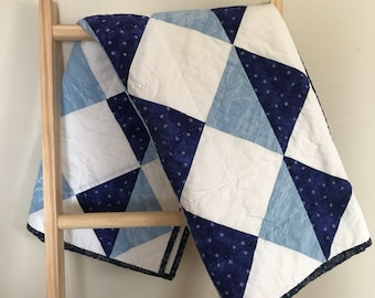 Handmade Triangle Baby Quilt
