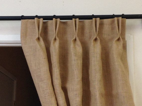 curtains lined diy drapes size window burlap decoration room treatments medium