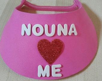 Nouna Nouno Loves Me Visor - Greek Style Sun Visor