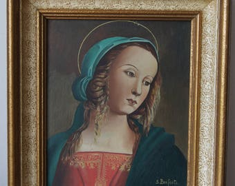 Vintage Painting Maria Signed