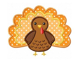 Thanksgiving Turkey Applique Machine Embroidery DESIGN NO. 140