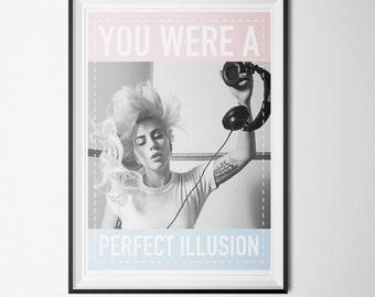 Lady Gaga - Perfect Illusion Poster (PRINTABLE) - Instant Download - DIY