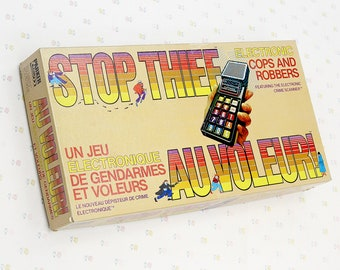 70s Stop Thief Cops and Robbers Vintage Board Game, Vintage Electronic Game for Kids, 70s Games for Him, Family Games Detective Mystery Game