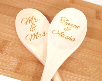 Personalized Wooden Spoon - Engraved Custom Wooden Spoon (1 spoon)