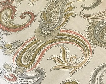 """Pair of Ruffled Pillow Slipcovers in Global Paisley Blush-1"""" Ruffled Detail-Two Pillow Shams-18x18-Other Sizes and Colors Available"""