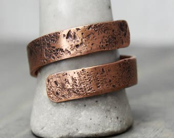 Copper Wrap Ring, Copper Galaxy Ring, Textured Copper Ring, Copper Jewelry, Wrap Ring, Galaxy Jewelry, Textured Copper Jewelry, Hand Stamped