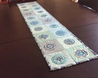 Blue Mandala Table Runner