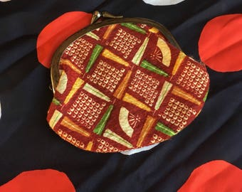 1960's Japanese Multicolored Coin Purse