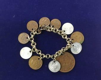 "7"" Random Foreign Coins bracelet"