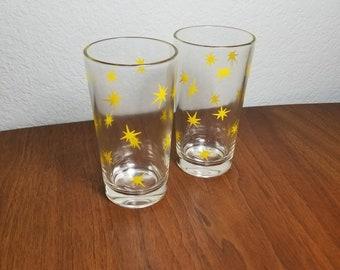 Set of 2 Starburst Juice Glasses