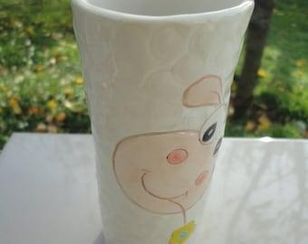 Handmade ceramic vase-Flower vase-Pen holder