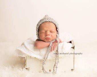 Newborn Pixie Hat, Newborn Hat Boy, Newborn Boy Hat Photo Prop, Newborn Photo Prop Boy, Newborn Boy Props, Knit Newborn Hat, Newborn Bonnet
