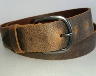 """1-1/2"""" Full Grain Water Buffalo  Leather Belt"""