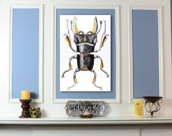 Stag Beetle Original Artwork Acrylic Painting