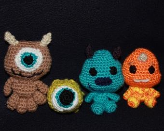 Amigurumi Monsters Inc : Crochet monsters inc etsy