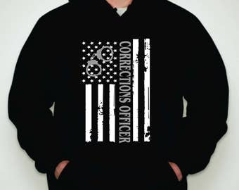 Correction Officer Hoodie-Corrections Hoodie-Correction Officer Sweatshirt