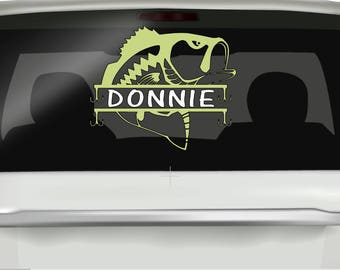 Fathers Day Fish Gift, Fish Decals, Name Decals, Name Stickers