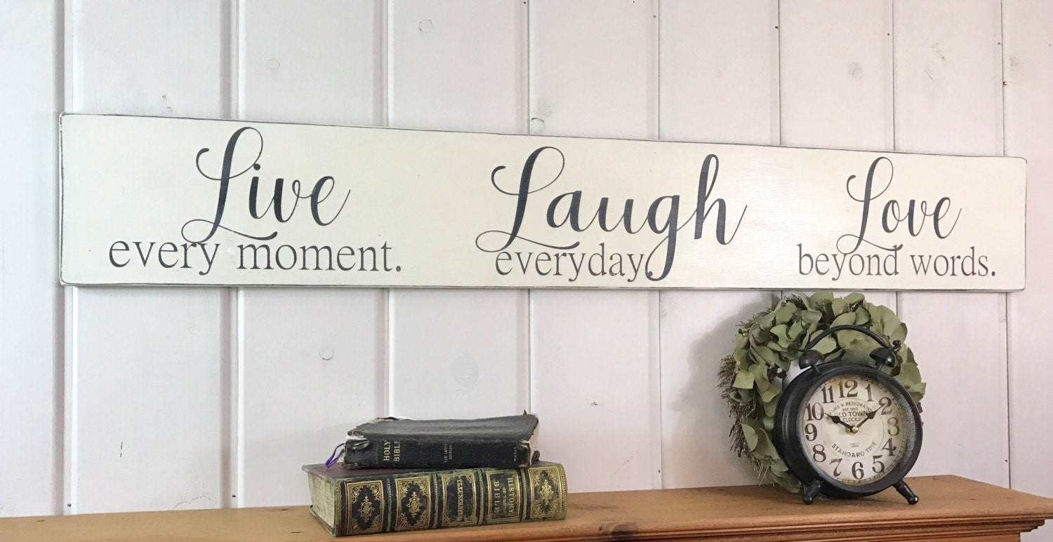 Live Laugh Love Wall Decor Beauteous Live Laugh Love Sign Rustic Wood Sign Bedroom Wall Decor Design Decoration