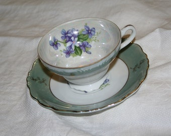 Forget-me-not Tea Cup and Saucer