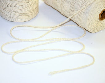 2mm Strong Natural Cotton Cord