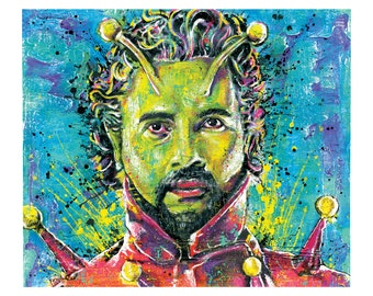 The Flaming Lips Wayne Coyne - There's Life on Mars - 18 x 12 High Quality Art Print