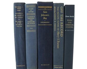 Blue  Decorative Books for Mantel Decor, Farmhouse Decor, Fixer Upper Style