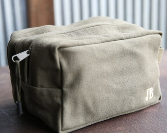 Personalized Groomsmen Shave Bag Custom Dopp Military Toiletry Travel Bag - Groomsman Gifts Bridal Party Gift