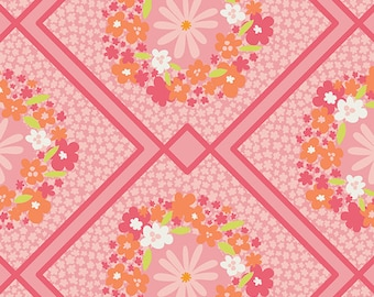 Cottage Treasures in Pink  from Dreamin' Vintage by Jeni Baker for Art Gallery Fabrics