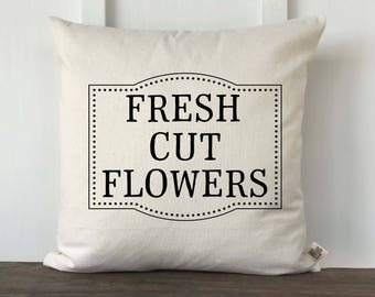 Farmhouse Fresh Cut Flowers Pillow Cover, Spring Pillow, Spring Decor, Farmhouse Pillow, Decorative Pillow, Couch Pillow cover