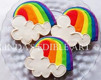 Over the Rainbow Cookies 1 Dozen (12)