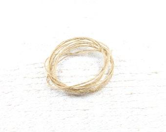 20 meters of cord / natural hemp twine +/-1 mm