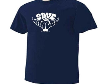 SAVE THE WHALES Sealife Sea Life Ocean Whale Watchers Lovers T-Shirt