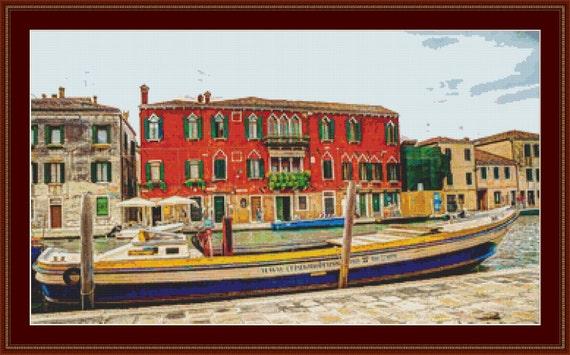 Grand Canal, Venice Cross Stitch Pattern /Digital PDF Files /Instant downloadable
