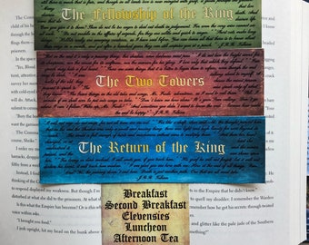 Lord of the Rings bookmark set 3 of 3