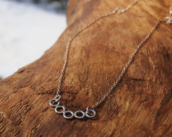 Sterling silver rings necklace.