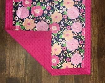 Minky Baby Blanket for baby girl