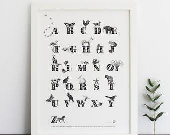 Animal ABC Print