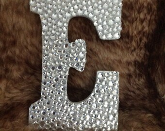 Handmade Bling Wooden Rhinestone Covered Letter 9 inch - For Prop or Decor