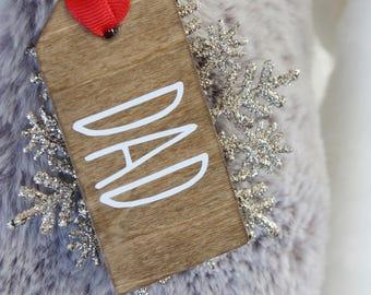 Rae Dunn Christmas, Wood stocking Tags, Christmas Tags, Wood personalized tags, Stocking tags, Ornaments Timberfarmsco, santa tags