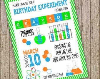 Science invitation etsy quick view science birthday invitation filmwisefo