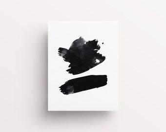 Abstract Painting, Black Brush Stroke Art, Printable Dorm Art, Zen Brush Art, Zen Art, Abstract Brush Strokes, Black Brush Stroke, Painted