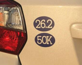 Ultra 50K Running Oval Vinyl Cut-out Sticker