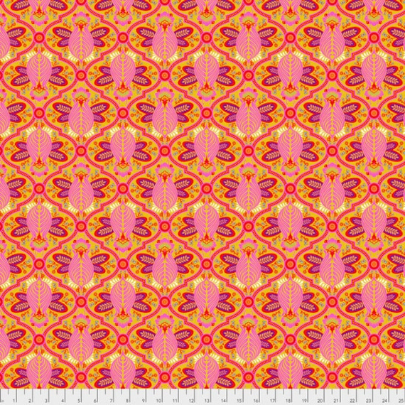 """FQ (18""""x22"""") BEE Marigold Tula Pink  pwtp115.marig  18"""" x 22"""" Multiples cut as one length"""