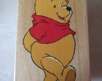 "Rubber Stamps "" Pooh Walking"" For card making  Slightly used good condition"