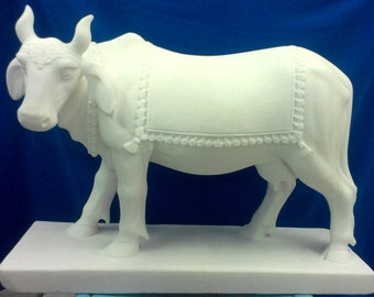 Handmade Marble Cow,for Temple,Garden,Home