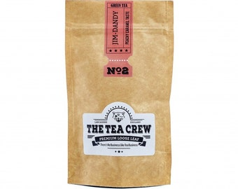 Jim-Dandy Green Tea Blend Peachy Caramel Taste Loose Leaf Tea