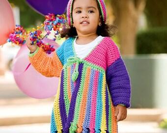 Little Girls Jacket and Hat Crochet Pattern